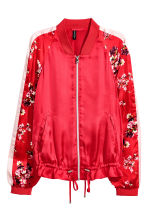 Bomber in satin - Rosso - DONNA | H&M IT 2