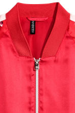 Bomber in satin - Rosso - DONNA | H&M IT 3