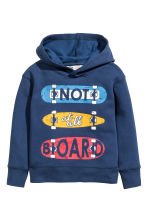 Print-motif hooded top - Dark blue - Kids | H&M CN 2