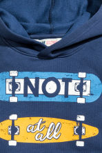 Print-motif hooded top - Dark blue - Kids | H&M CN 3
