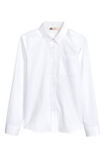 Generous fit Easy-iron shirt - White - Kids | H&M 1