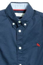 Generous fit Cotton shirt - Dark blue - Kids | H&M CN 3