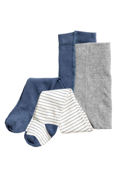 2-pack tights - Grey marl - Kids | H&M 1