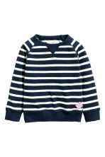 Sweatshirt - Dark blue/Striped -  | H&M 2