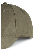 Imitation suede cap - Khaki green - Men | H&M 3