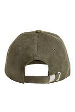 Imitation suede cap - Khaki green - Men | H&M 2