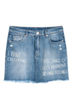 Gonna corta in jeans - Blu denim - DONNA | H&M IT 2
