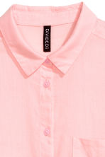 Cotton shirt - Light pink - Ladies | H&M 4