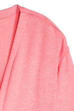 Fine-knit cardigan - Coral pink -  | H&M CN 3