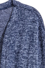Fine-knit cardigan - Dark blue marl -  | H&M 3