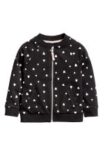 Bomber jacket - Black/Heart - Kids | H&M CN 2