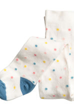 2-pack tights - White/Spotted - Kids | H&M 2