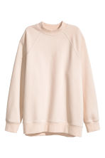 Sweatshirt with raglan sleeves - Powder - Ladies | H&M GB 2