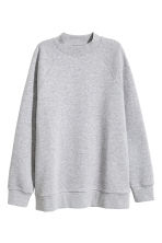 Sweatshirt with raglan sleeves - Grey marl - Ladies | H&M CN 2