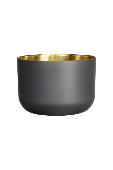 Petit pot en métal - Gris anthracite - Home All | H&M FR 1