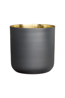 Tall metal plant pot