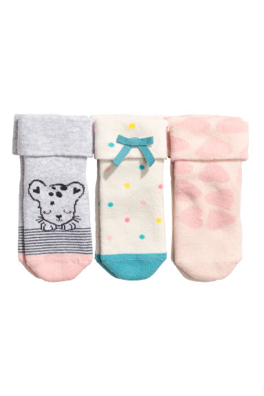 3-pack terry socks - White/Spotted - Kids | H&M 1