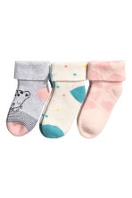 3-pack terry socks - White/Spotted - Kids | H&M 2