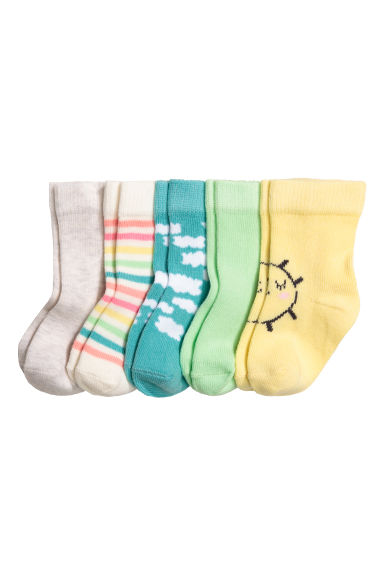 5-pack socks - Light yellow - Kids | H&M CN 1