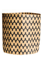 Paper storage basket - Beige/Zigzag - Home All | H&M CN 2