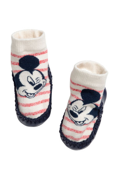 Moccasins - Natural white/Mickey Mouse - Kids | H&M 1