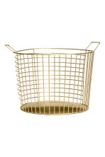 Grande cesto in filo metallico - Dorato - HOME | H&M IT 2