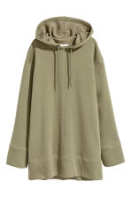 Oversized hooded top - Khaki green - Ladies | H&M 2