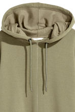 Oversized hooded top - Khaki green - Ladies | H&M 3