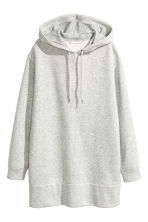 Oversized hooded top - Grey marl - Ladies | H&M CN 2