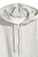 Oversized hooded top - Grey marl - Ladies | H&M CN 3