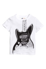 Printed T-shirt - White/Nirvana -  | H&M 2