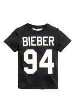 T-shirt con stampa - Nero/Justin Bieber -  | H&M IT 2