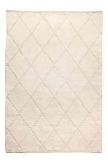 Jacquard-patterned cotton rug