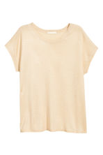 Fine-knit top - Light beige - Ladies | H&M 1