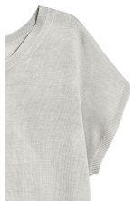 Fine-knit top - Light grey - Ladies | H&M CN 2