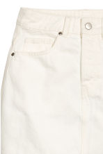Gonna in twill - Bianco naturale - DONNA | H&M IT 4