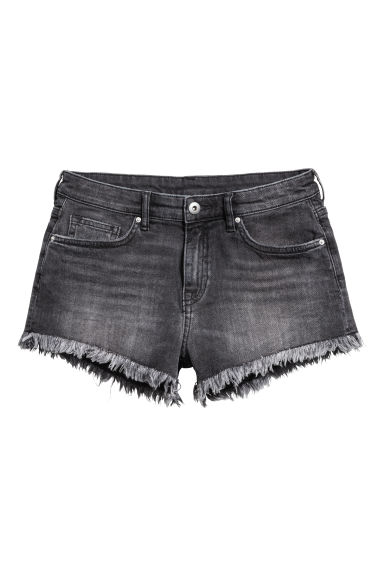 Shorts in jeans consumati - Denim grigio scuro - DONNA | H&M IT 1