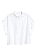 Short cotton blouse - White - Ladies | H&M CN 2