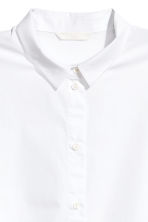 Short cotton blouse - White - Ladies | H&M CN 3