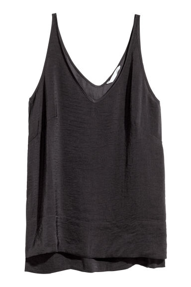 V-neck vest top - Dark grey - Ladies | H&M 1