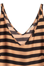 V-neck vest top - Dark beige/Striped - Ladies | H&M CN 3