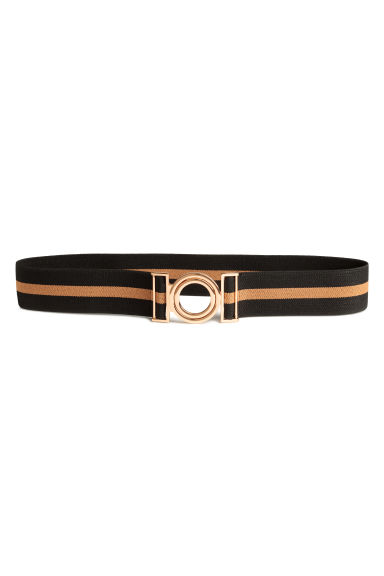 Elastic waist belt - Black/Camel - Ladies | H&M CA 1