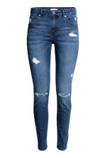 Skinny Regular Jeans - Dark denim blue - Ladies | H&M 3
