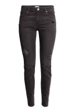 Skinny Regular Jeans - Nearly black - DAMES | H&M BE 3