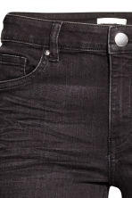 Skinny Regular Jeans - Nearly black - Ladies | H&M GB 4
