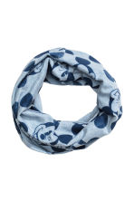 Jersey tube scarf - Light blue/Mickey Mouse -  | H&M CN 1