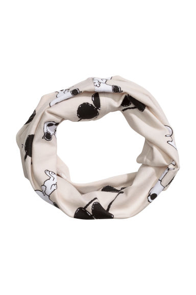 Jersey tube scarf - Light beige/Snoopy - Kids | H&M CN 1