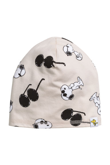 Jersey hat - Light beige/Snoopy - Kids | H&M 1
