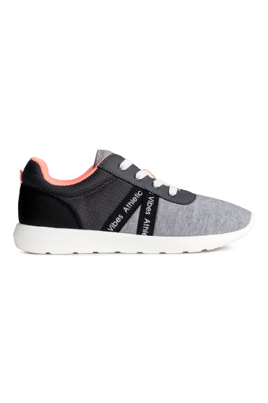 Mesh and jersey trainers - Grey marl - Kids | H&M 1