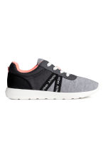 Mesh and jersey trainers - Grey marl - Kids | H&M CN 1